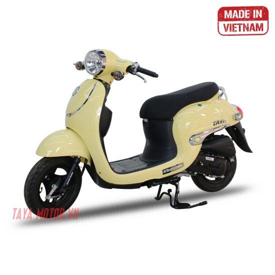 xe máy 50cc tay ga giorno màu kem