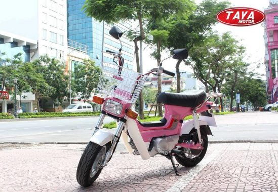 Xe máy chaly 50cc màu hồng
