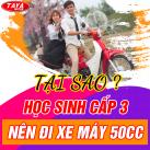 học sinh c3 nên đi xe máy 50cc